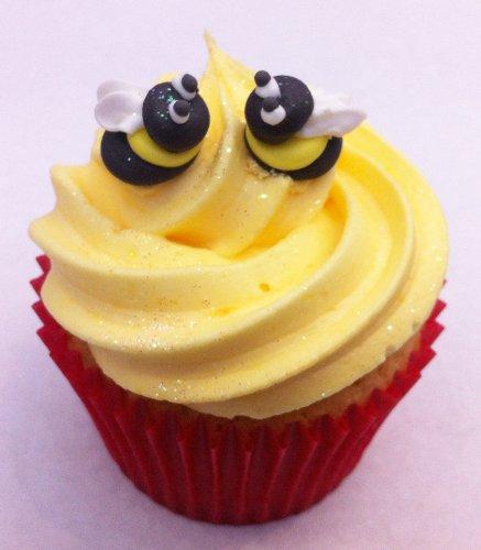 12 Sugar Mini Bees - Beautiful Edible Cake Decorations