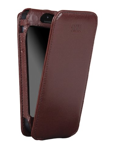 Best Price Sena 826113 Magnet Flipper Leather Case for iPhone 5 & 5s - 1 Pack - Retail Packaging - Brown