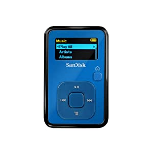 SanDisk Sansa Clip+ 4 GB MP3 Player (Blue)