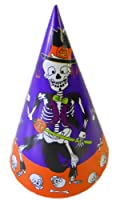 Halloween Party Hats - 8 Count - Dancing Skeleton by Bi-Way