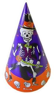 Halloween Party Hats - 8 Count - Dancing Skeleton by Bi-Way