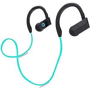Ikevan Wireless Bluetooth Sports Stereo Headset Headphone Earphone For SmartPhone (Blue)