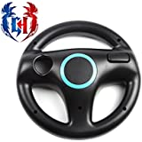 Gamer's House Steer Wheel for Nintendo Wii Racing Games Mario Kart, GT Pro, Color Matte Black