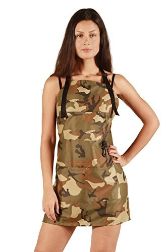 Ladybird Line Women Camouflage Short Pet Groomer Apron Polyester Water Repellent Ideal for Pet / Dog Grooming (Dog Grooming Clothing compare prices)