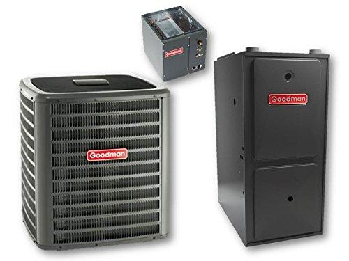 2 Ton 15.5 Seer Goodman 80,000 Btu 96% Afue Dual Fuel System - Dszc160241 - Capf3636B6 - Gmvc960803Bn - Tx2N4 front-619908