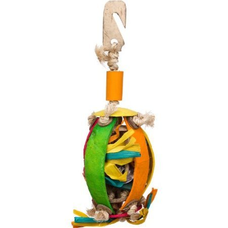 Planet Pleasures Coco Shell Foraging Ball Large Bird Toy