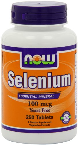 Now Foods Selenium 100Mcg, Yeast Free, 250 Tablets