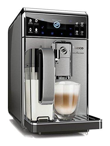Saeco HD8975/01 GranBaristo Kaffeevollautomat, AquaClean, integrierte Milchkaraffe, silber thumbnail