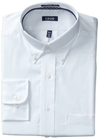 Izod mens twill dress shirt at amazon men s clothing store for Izod shirt size chart