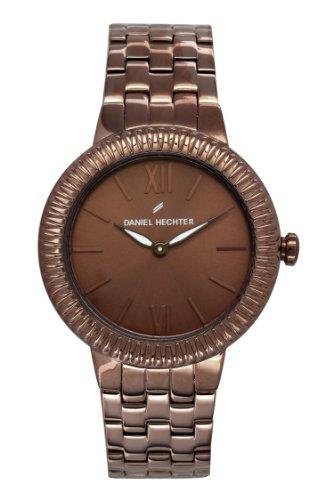 Daniel Hechter-DHD - 5UM/007 Women's Quartz Analogue Watch-Brown Face-Brown-Plated Steel Bracelet
