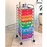 10 Color Drawer Organizer Rolling Cart