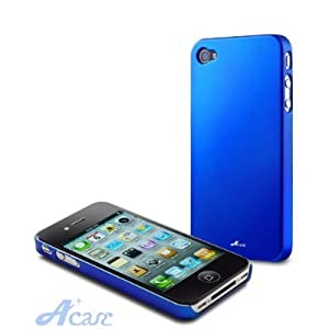 Acase(TM) Superleggera ocean adventure fit case for iPhone 4 with 2 Screen Protector (Blue)