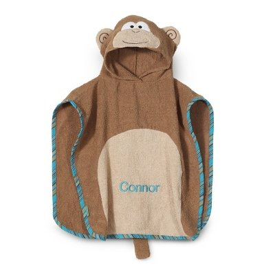 Personalized Monkey Hooded Poncho front-890553