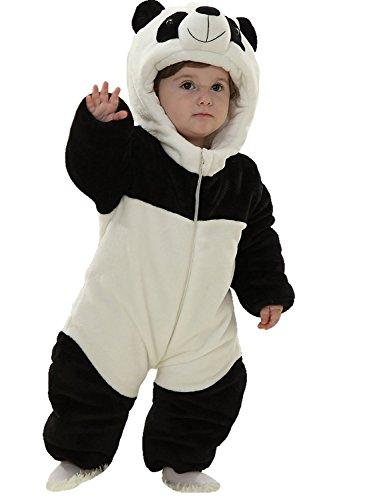Baby Winter Snowsuit Fleece Hoodie Jumpsuit Outwear Bear One-Piece 12-18Months Panda