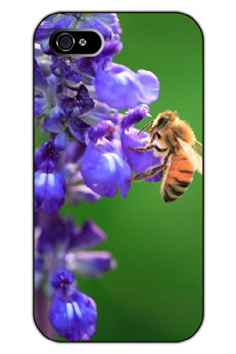 Sprawl Unique Clear Design Lavender And Bee Protective Hard Plastic Snap On Iphone 5 5S Case Flower Of Life