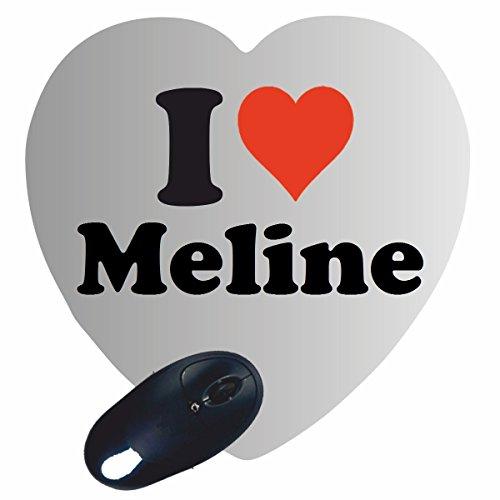 """Regali Esclusivi: Cuore Tappetini per il Mouse """"I Love Meline"""", un Grande regalo viene dal Cuore - Ti amo - Mouse Pad - Antisdrucciolevole - Punte di Natale"""