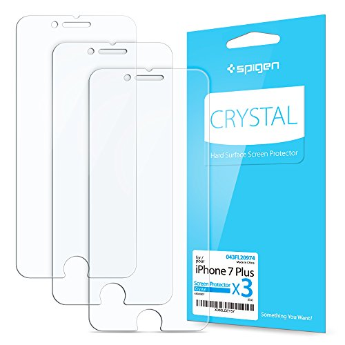 [3-Pack] iPhone 7 Plus Screen Protector, Film Protection, Spigen® **Anti-Scratch Ultra Clear** iPhone 7 Plus Screen Protector (043FL20974)
