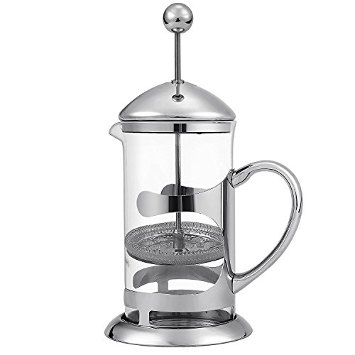 Homdox French Press Glass and Stainless Steel Coffee Maker, 8 Coffee Cups (1 Liter), 34oz