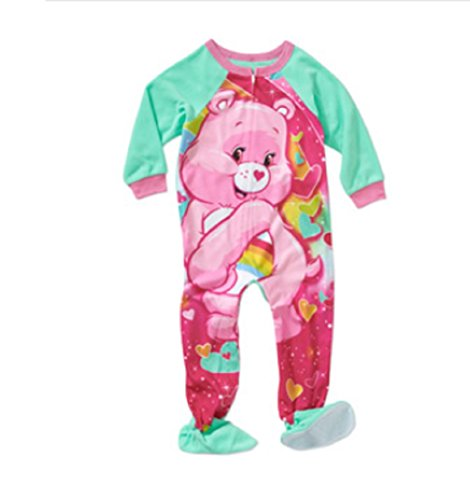 376e6d0a0 Care Bears Girls Toddler Footed Pajamas Blanket Sleeper 12m - 5t (5t ...