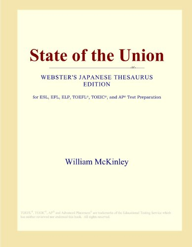 State of the Union (Webster's Japanese Thesaurus Edition)