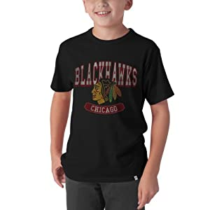 NHL Chicago Blackhawks Flanker Tee, Jet Black by