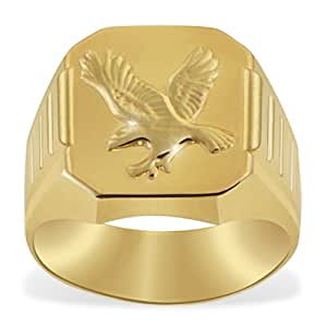Goldmaid 9ct Yellow Gold Men's Ring with One Flying Eagle- Size T 1/2