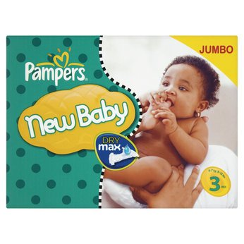 Enticing Pampers New Baby Jumbo Pack Size 3 Nappies (74s) - Cleva Edition ChildSAFE Door Stopz Bundle