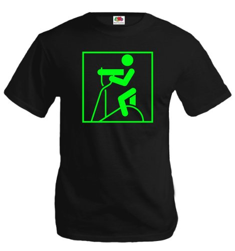 T-Shirt Crosstrainer-Piktogramm-XL-Black-Neongreen