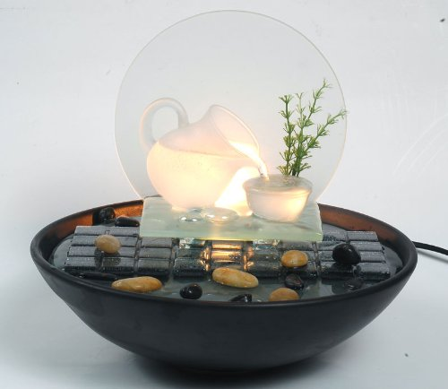 Indoor Table Top Water Feature-Glass & Ceramic-Brand New