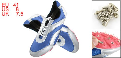 Como Blue Sports Running Track Racing Spikes Shoes EU 41