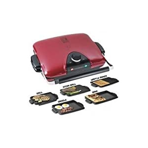 George foreman grp97r next grilleration g5 red removable plate grill with 5 - Health grill with removable plates ...