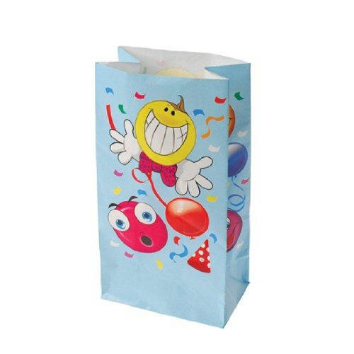 Dozen Smiley Face Theme Paper Party Gift Bags