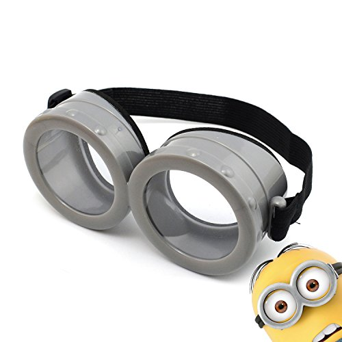 iLToy Minions Goggles Mask Glasses with Strap - Despicable Me Cosplay Costume for Child or Adult (Transparent)