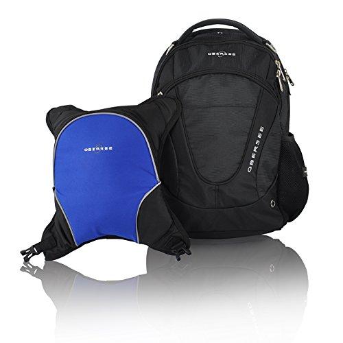 obersee-oslo-mochila-para-panales-con-bolsa-isotermica-separable-negro-y-azul-marino-intenso