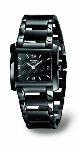 Boccia Ladies Black Titanium Bracelet Watch B3155-05