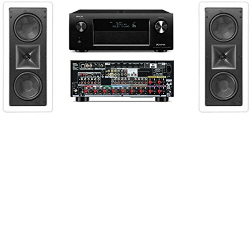 Klipsch Kl-6502-Thx In-Wall Lcr Speaker(2Each)-Denon Avr-X4000 In-Command 7.2Channel