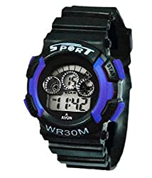 Gee Aar Impex Sports Watch Collections Digital Black-Grey Dial Sports Watch for Kids- GEEBLESVNLGT01048