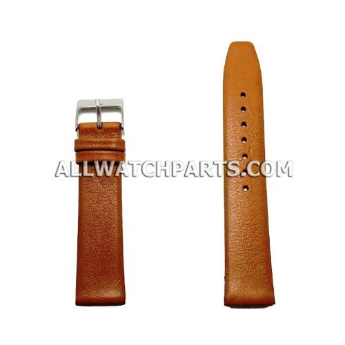 13Mm Light Brown Smooth & Flat Style Genuine Leather Band