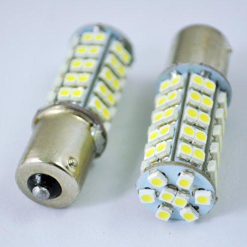 Sodial(R) 2 Pcs 1206 Smd 50-Led Turn Tail Brake Light Lamp Bulb White For Car