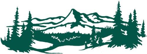 Cardstock Laser Die-Cuts-Mountain Range
