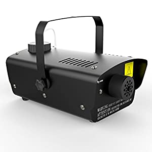 1byone Halloween Fog Machine with Wired Remote Control, 400-Watt Fog Machine, Black