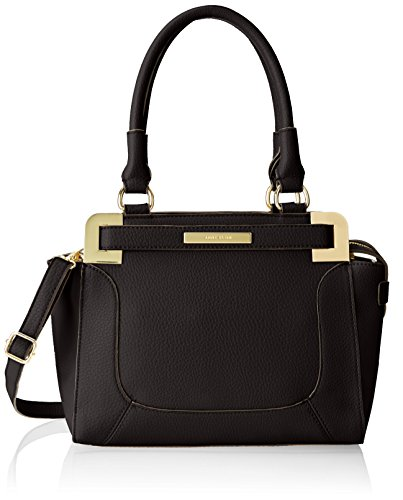 Anne Klein Trinity Satchel Top Handle Bag, Black, One Size