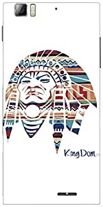 Snoogg Red Indian Designer Protective Back Case Cover For Lenovo K900