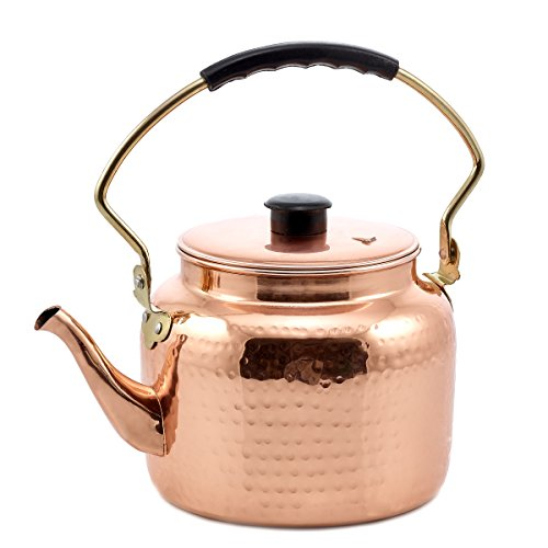 Old Dutch International Hammered Tea Kettle, Copper, 2 quart (Copper Tea Kettle compare prices)