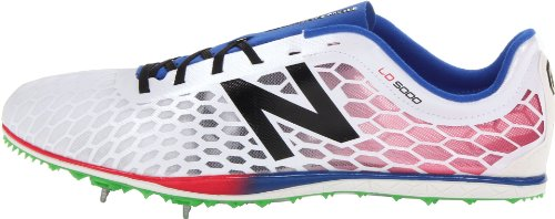 pictures of New Balance Men\u0027s MLD5000 Spike Synthetic Running Shoe ,White/Blue,11