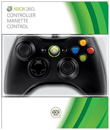 Official Xbox 360 Wired Gamepad - Black (Xbox 360)