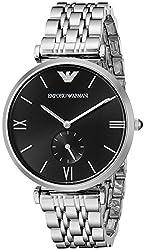 Emporio Armani Analog Black Dial Unisex Watch - AR1676