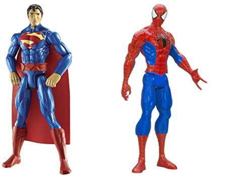 "Super Hero Superman vs Spider-Man Titan Hero Series 12"" Action Figures Toys 2 Pack"