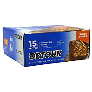 Forward Foods Detour Whey Protein Bar Chocolate Chip Caramel -- 15 g - 9 Bars