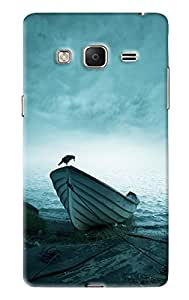 Blue Throat Crow On Boat Printed Designer Back Cover/ Case For Samsung Tizen Z3